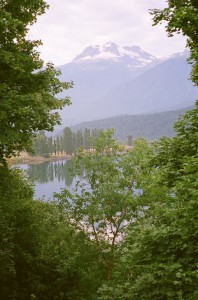 Mount Begbie from the Columbia River valley in Revelstoke