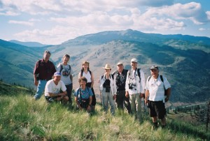 Jenny, while working as Manager of Terrestrial Ecosystem Science, on a field expedition with BC Government staff to find species at risk in the South Okanagan region.