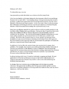 Ralph Archibald's Reference Letter