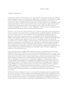 Rod Davis' Reference Letter